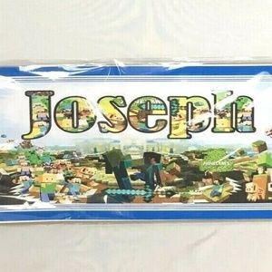Minecraft Poster with the Name Joseph BRAND NEW
